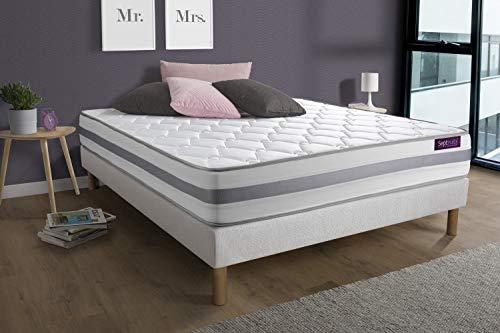 Matelas Ressorts ensachés 140x190 Memo Spring 3 Zones de Confort Maxi épaisseur | Epaisseur : 22 cm | Confort : Ferme
