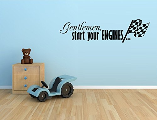 GENTLEMAN ENGINES CHECKERED RACING STICKER