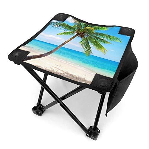 Tabouret de Camping chaises Pliantes Palm Emerald Ocean Tropical Coast Beach Sea Portable Chair Seat