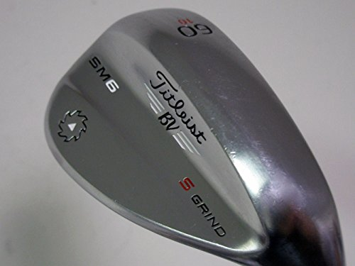 Titleist Vokey SM6 Tour Chrome Wedge Right 60 10 S Grind True Temper Dynamic Gold Wedge