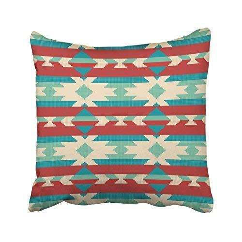 Federa per cuscino decorativo in stile azteco, 18 x 18 cm, motivo ornamentale per lavori a maglia e ricamo Navajo etnico jacquard simbolo tribale federe decorative per cuscini per divano e casa accessori regalo