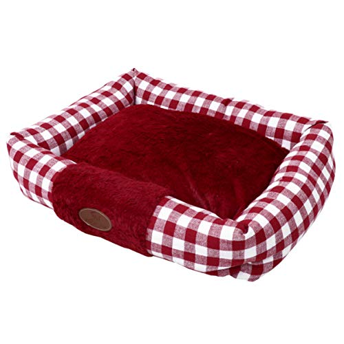 POPETPOP Soft Pet Bed Breathable Dog Bed Cat Pet Bed Cuddler Pet Mat Cushion Cat Nest Holiday Pet Gifts Claret