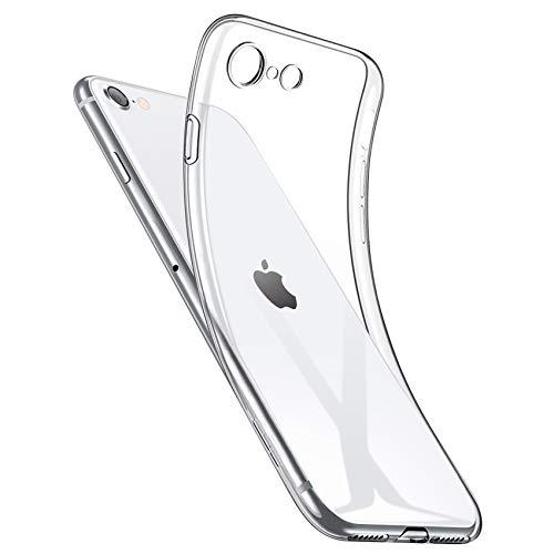 NIMASO ケース iPhone SE 第2世代 iPhone 8 7 用 軽量 ケース ソフト クリア TPU カバー ベーシック シリーズ 4.7インチ用