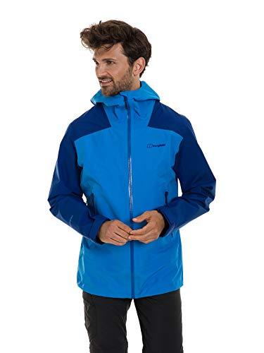 Berghaus UK Paclite Peak Vent Gore-Tex Chaqueta Impermeable, Hombre, Azul Brillante/Azul sodalita, Small