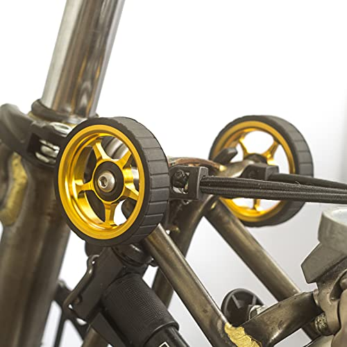 LONDON CRAFTWORK Ruedas anchas fáciles para BROMPTON ver 2' GOLD