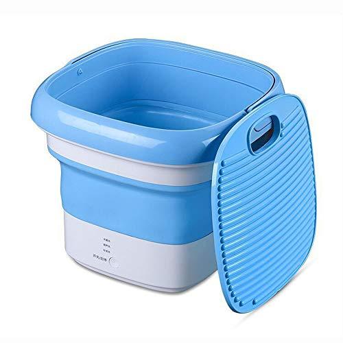 YIWANGO Zusammenklappbare Tragbare Waschmaschine Halbautomatische Mini-Waschmaschine Energiespar- Und Umweltschutz-Kleinwaschmaschine Unterwäsche Sockenwaschmaschine,Blue