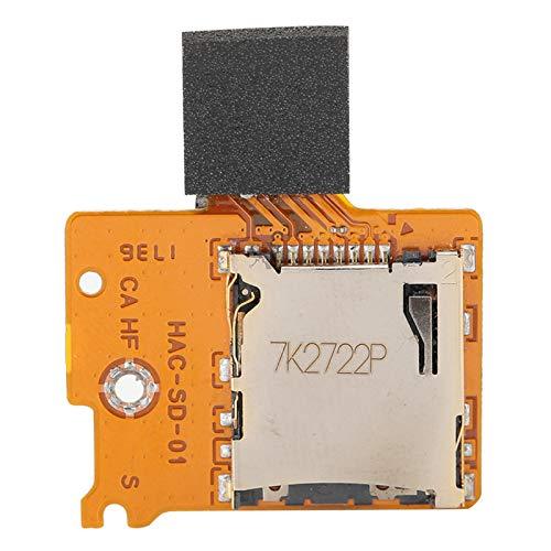 Mxzzand Piezas de reparación de zócalo de Uso Duradero, Placa de Conector de Ranura antidesgaste, Tarjeta de Memoria, anticorrosión para Consola de Juegos Switch Lite
