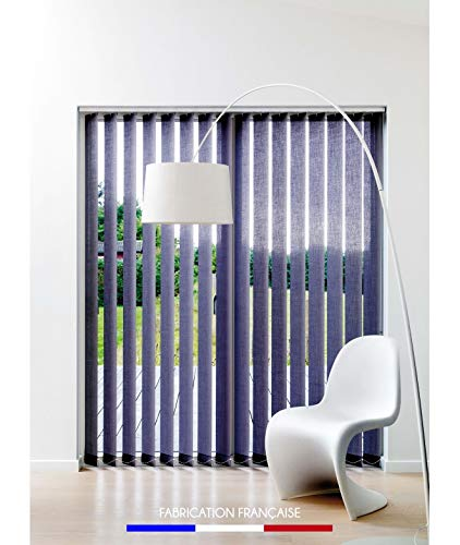 Kit completo de persianas californianas con láminas verticales 89 mm – 208 x 280 cm – morado