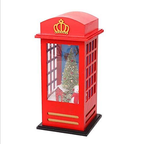 SYXX Atmsfera festiva Mall bar familiar Conjunto Puntales de Navidad de Londres Cabina de telfono que nieva Micro panorama musical Decoracin del arte de la ventana de visualizacin de vacaciones Di