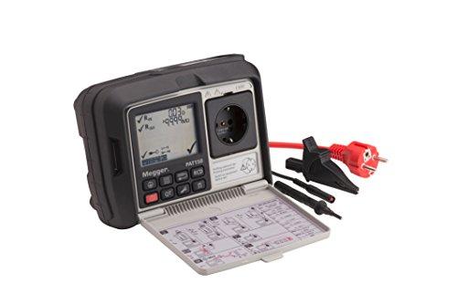 Megger 1003-068 PAT150-DE Gerätetester, Schutzleiterwiderstand mit 200 mA, Isolationsprüfung mit 250V und 500V, Ersatz-Ableitstrom, Schutzleiterstrom