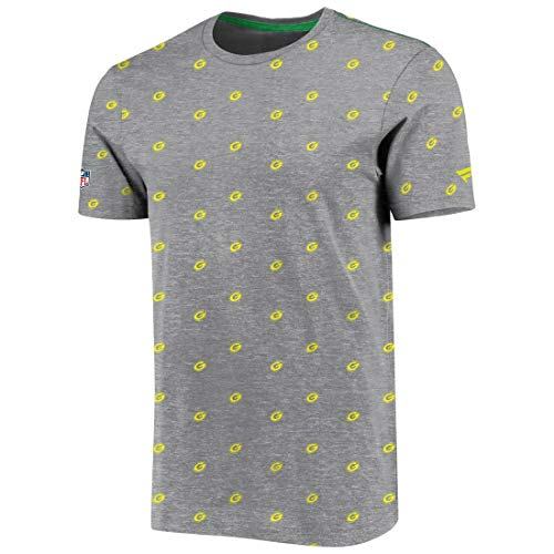 Fanatics NFL Iconic Carnival All-Over Print Graphic Greenbay Packers - Camiseta, color gris gris XL