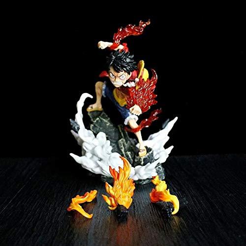 HSPHFX One Piece - Luffy PT Modelo, Fuego de reemplazo Fuego Efectos especiales Tallado de artes Toy, The Top War Gear Second Portgas.D.ACE FIET PUSO DE LA FIGURA DE RECAMBIÉN DE LA BOLETA DE LA BOLET