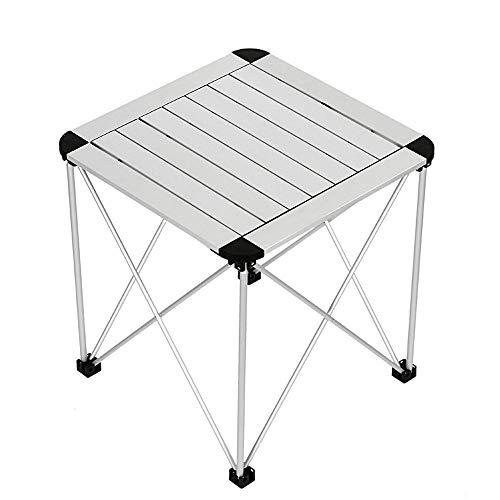ZA Draagbare opklapbare campingtafel, aluminium lichtgewicht rol-up-tafelblad, vierkant, compacte, inklapbare campingbijzettafel voor picknickbarbecue op het strand, outdoor-koken, wandeltafel,