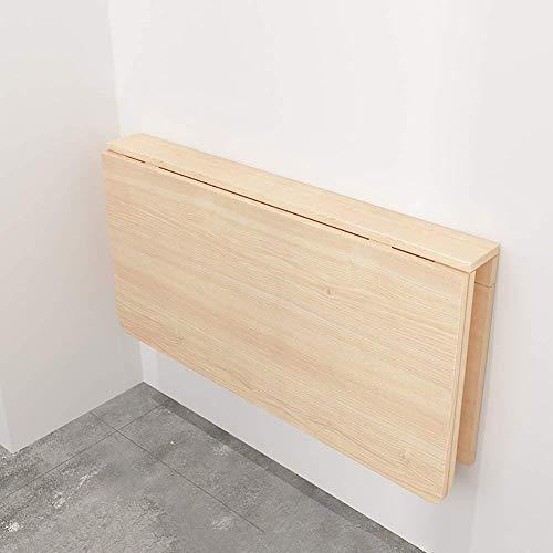 QTQZDD klaptafel voor de tuin, eettafel van massief hout, tafel voor werkkamer, muur, bureau, afmetingen inklapbaar, optioneel, hout 7 7