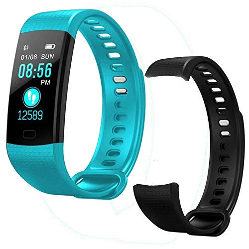 ZOSO Updated 2020 Version Fitness Trackers, Activity Trackers Health Exercise Watch with Heart Rate and Sleep Monitor, Smart Band Calorie Counter, Step Counter for Men Women (Blue Add Strap)