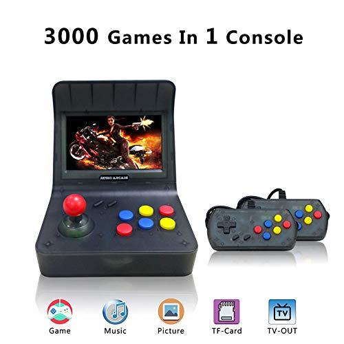 YLM Retro Console di Gioco, Console di Gioco Portatile per Game Player 16GB 4.3 'Screen 3000 Giochi (Nero)