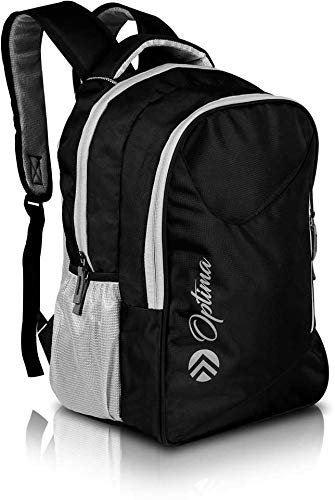 OPTIMA Polyester 15.6-inch Black Water Resistant Travel Laptop/Business Slim Durable College/School Backpack