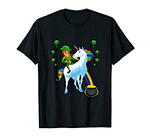 Leprechaun Riding a Unicorn T-Shirt, St Patrick's, MbASSP T-Shirt