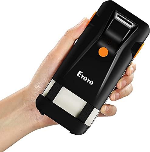 Eyoyo Bluetooth Barcode Scanner, 3 en 1 Back Clip-on Phone Scanner Portable 1D Wireless Lecteur de codes à barres Bar Code Reader pour la gestion de l'inventaire, compatible avec iPhone, Android, iOS