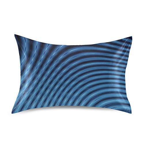 Fundas de Almohada de licuadora de líneas Azules abstractas 3D, Juego de...