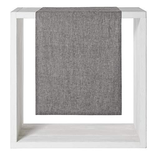 Proflax Tischläufer Sven   838 Grey - 50 x 150 cm