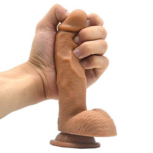 MXYLYLAT2 Dīdlò ànfängér, 17.5cm Hautfarbe Begǐnner Schwarz Handheld Stǐck likelife Reálǐstǐc Bǐg Medǐcál Weiche Máterǐál Naturgetreue
