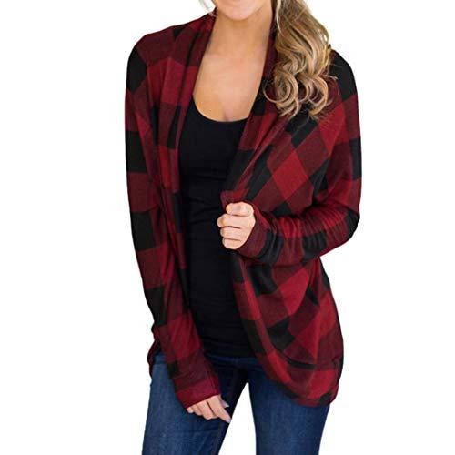 VJGOAL Damesjack, Dames mode onregelmatige rooster print lange mouwen jas outwear casual conditioner jas cardigan