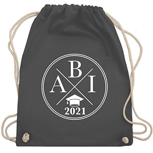 Shirtracer Abi & Abschluss - Abi 2021 Hipster X - Unisize - Dunkelgrau - geschenke zum abitur 2019 turnbeutel - WM110 - Turnbeutel und Stoffbeutel aus Baumwolle