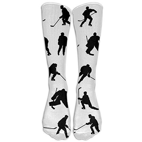 Calcetines unisex de hockey sobre hielo hasta la rodilla de invierno no impresión 3D...