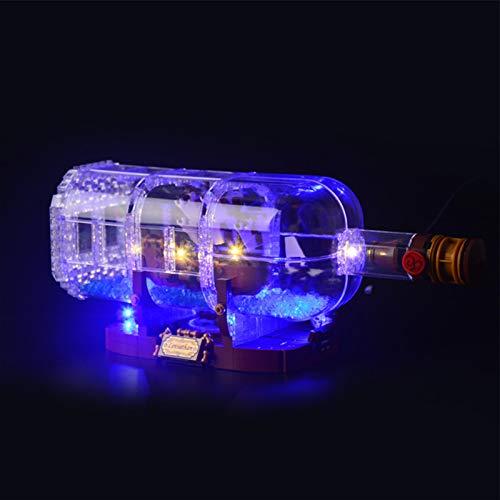 iCUANUTY Set di Luci per Lego 21313 Nave in Bottiglia, Kit Luce LED Compatibile con Lego 21313 (Non Include Il Modello Lego)