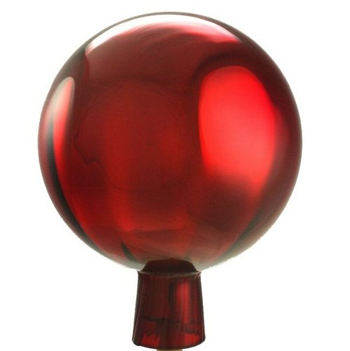 Original Rosenkugel 18 cm rot verspiegelt