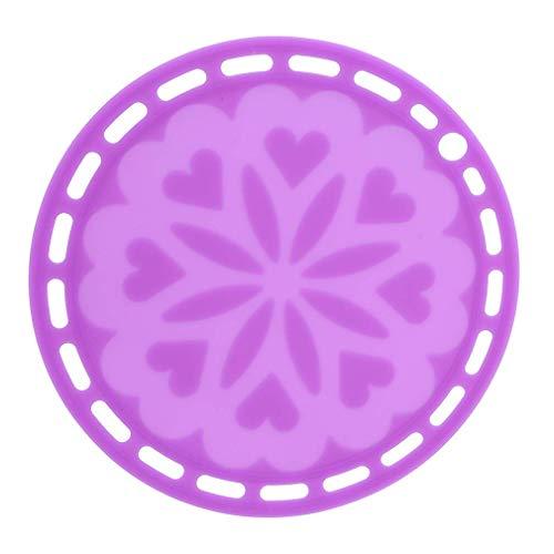 Ogquaton - Salvamanteles de silicona para calentar y aislar, color morado de alta calidad