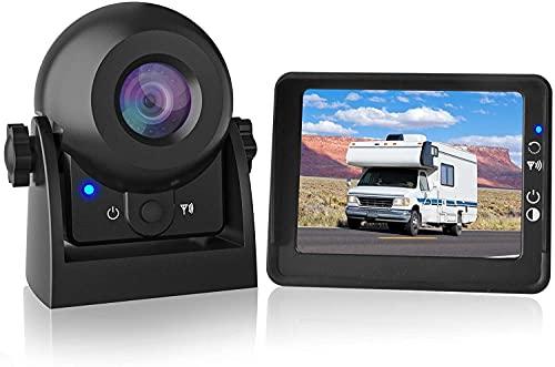 MHCABSR WiFi Wireless Rückfahrkamera mit 3,5 'LCD-Monitor IP68 Wasserdichtes Weitwinkel-Nachtsicht-Wireless-Rückfahrkamera-Kit für Pkw-LKW-Anhänger-Wohnmobile