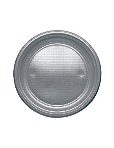Generique - 25 Petites Assiettes Plastique Acier Ronde