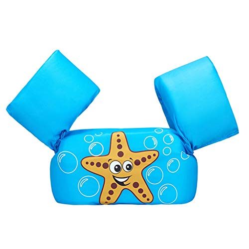 ZJSY Schwimmweste-Schwimmen scherzt Swimmingpool-Spielwaren-Hin- und Herbewegungs-Weste für Baby/Säugling/Kleinkind 30-50lbs scherzt Erholung im Freien (Color : Blue B)