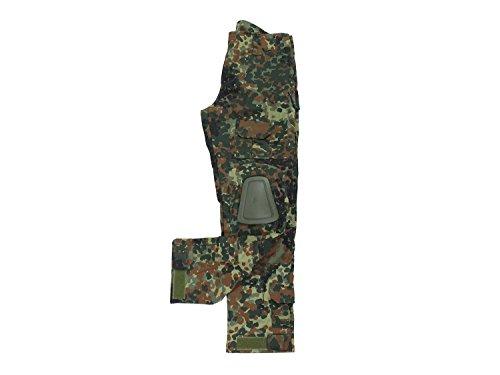 BEGADI Basics Combat Pants/Hose, mit 10 Taschen & abnehmbaren Knieschonern - Flecktarn XXL