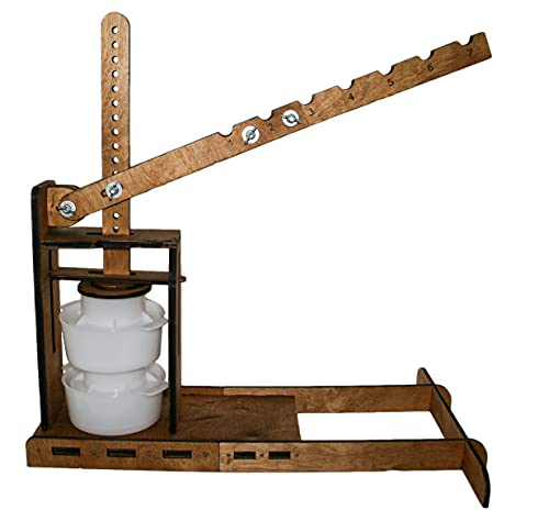 DUTCH PRESS, WOODEN CHEESE PRESS (2 Cheese Making mold 1.2 L) pressure up to 270 pounds