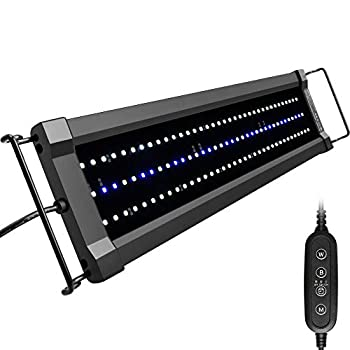 NICREW ClassicLED Gen 2 Aquarium Light Dimmable LED Fish Tank Light with 2-Channel Control White and Blue LEDs High Output Size 18 to 24 Inch 15 Watts