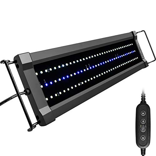 NICREW ClassicLED Gen 2 Aquarium Light, Dimmable LED Fish Tank Light with 2-Channel Control, White and Blue LEDs, High Output, Size 18 to 24 Inch, 15 Watts