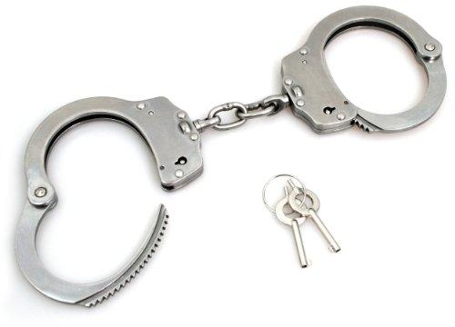 Security-Discount Germany - Handschelle mit Kette, Edelstahl, Double Lock