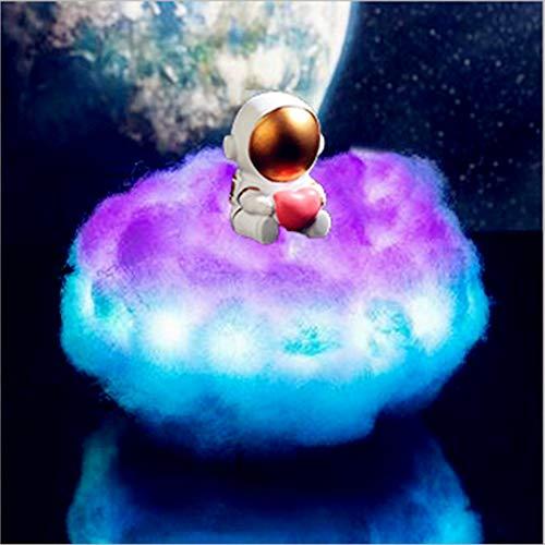 YIBAO Luz De Noche LED, Lámpara De Astronauta con Nubes De Colores,...