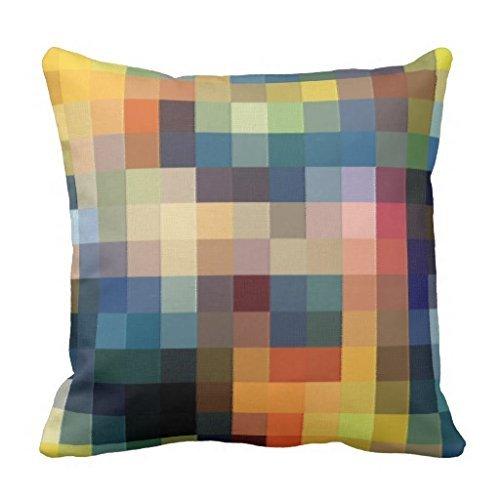 yting Couverture de Coussin de Patchwork de Pixels pour la Chaise Longue, Divan, extérieur, Chaise Longue, pub, Famille 18\