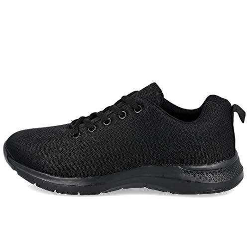 L&R SHOES B90 Zapatillas Deportivas Mujer - Sintético para: Mujer Color: Negro Talla: 38