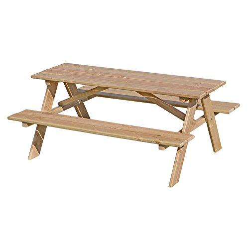 Gartenpirat Kindersitzgarnitur aus Lärchen-Holz unbehandelt Tisch und Bank