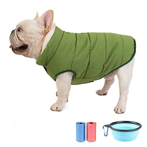 TVMALL Winter Hundejacke Haustier Hundemantel Fleece gefütterte Hundeweste winddicht warme Hundekleider Winter Kaltes Wetter Hundebaumwollmantel Geeignet für kleine und mittlere Hunde