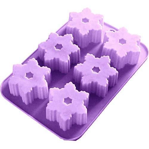 Gekai Moule à biscuits en silicone en forme de flocon de neige en forme de flocon de neige en forme de moule de biscuits de coupe de moule à biscuits en acier inoxydable