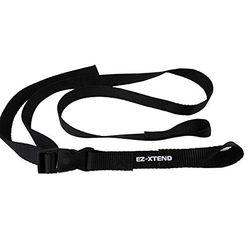 """EZ-Xtend Pontoon Ladder Pull Up Strap Using Quick Release Buckle System - Made with Heavy Duty 4500 LB Breaking Strength 1"""" Black Polyester Webbing, 250 LB Quick Release Buckle, and Lifetime Thread"""