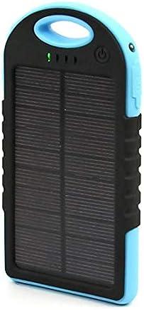 HTC ONE M8, M9, M9, E9, 820, 620, EYE, E8 Solar power bank with 5000 mah capacity - Black/Blue