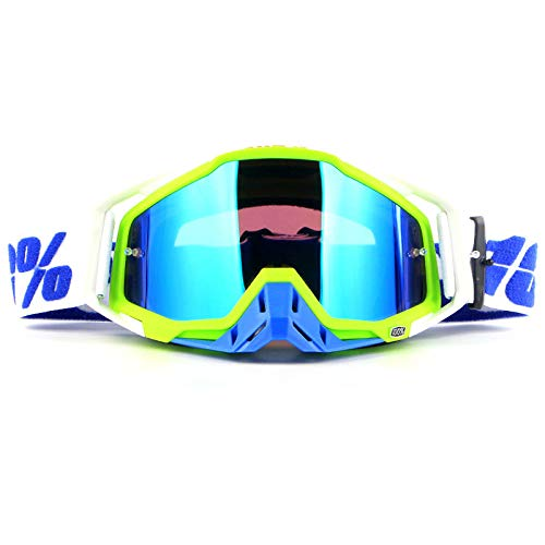 Dtcat Jugend-Skibrille, Outdoor-Motorrad-Cross-Country-Brille, Skibrille, Rennritterbrille @ fluoreszierend gelb, Antibeschlag, 100{70d0c666af13c60e945f9b57cc3417758cb962c6d66b584158d5c93550450374} UV-Schutz
