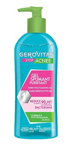 Gerovital Stop Acnee, Gel Spumoso Purificante, per tipo di pelle: Mista Grassa Acneica, 150 ml